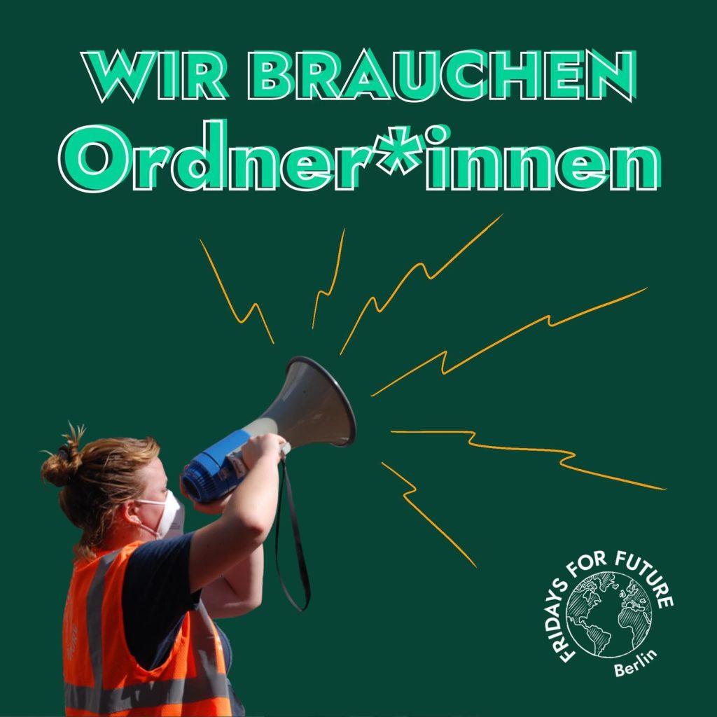 Wir brauchen Ordner*innen und andere Helfer:innen bei unserem Streik!